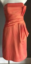 New with Tags Gorgeous Metallic Orange MR K Strapless Knee Length Dress Size 8