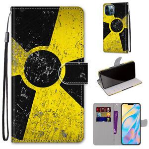 Retro Sign Creative Cool Flip Wallet Bracket Case Back Cover For Various Phones