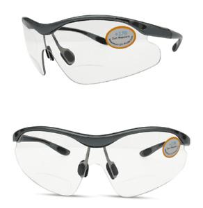Bifocal Cycling Sports Wrap Around Eye Protection Glasses High Impact  100% UV