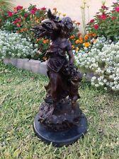 AUGUSTE MOREAU Bronze Farm Woman With A Child