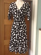 Phase Eight stretchy spotted  wrap tea dress size 16