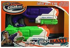Brand New NERF Super Soaker BREACH BLAST Water Pistol BLASTER 2 Pack BREACHBLAST