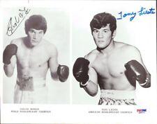 Carlos Monzon & Tony Licata Autographed Signed 8x10 Photo PSA/DNA COA Q89212