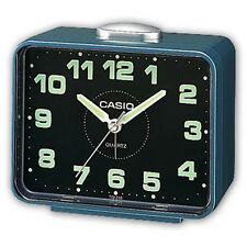 Casio Alarm Clock Snooze button Blue TQ218-2 Resin case
