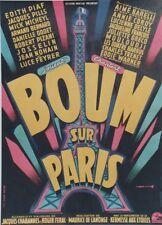 """""""BOUM SUR PARIS """" Affiche originale entoilée Litho 1953 ROJAC  (TOUR EIFFEL)"""