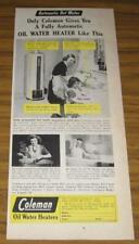 1947 AD~COLEMAN OIL WATER HEATERS~MOM & DAUGHTER
