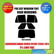 LANDROVER RANGE ROVER SPORT 2006-2011 5% LIMO REAR PRE CUT WINDOW TINT