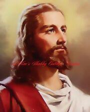 Fabric Block 5x7 Jesus Christ Christian Religious Inspirational
