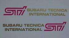 SUBARU IMPREZA WRX STI Adesivi porta anteriore X2 (versione 9). 2007 IMPREZA