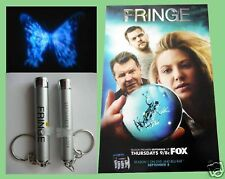FRINGE sdcc FOX Exclusive FLASHLIGHT Keychain & Poster JOSHUA JACKSON ANNA TORV