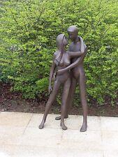 Bronzeskulptur, Liebespaar, Mann und Frau, Dekoration*