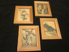1950's LITHOGRAPH IN USA SET OF 4 COLLECTION 6.25 x 5.25 INCHES THICK ART PRINTS