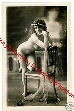 Happy FRENCH NUDE Girl/ludtige nude * VINTAGE 10s risque Photo PC