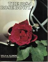1984 (Jan. 2) College Football program, Rose Bowl, UCLA  vs. Illinois ~ VG