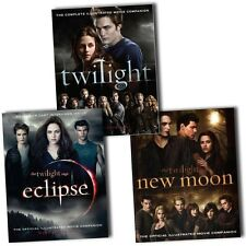 Twilight Saga Collection Official Illustrated Movie Companion 3 Books Set Pack