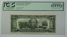 1977 $20 Bill Error Full Face to Back Offset Note FRN PCGS 45PPQ Fr. 2072-G