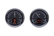 """Dakota Digital Universal Dual 5.4"""" Round Analog Gauges Kit Black HDX-2014-K"""