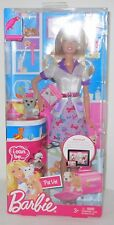 Barbie 2011 I Can Be... A Pet Vet Veterinarian Grey Gray Dog Doll New In Box