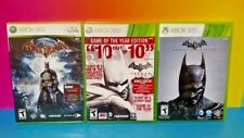 Batman Arkham Origins, City, + Asylum GOTY Game of the Year - XBOX 360 GAME Lot