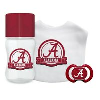ALABAMA CRIMSON TIDE Baby Gift Set 3 Piece NEW IN BOX