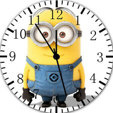 Cute Funny Minions Frameless Borderless Wall Clock For Gifts or Home Decor E75