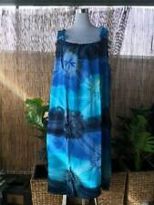 Plus Size Blue Tie Dye Maxi Dress Adjustable On the Shoulders Size 16-18-20-22