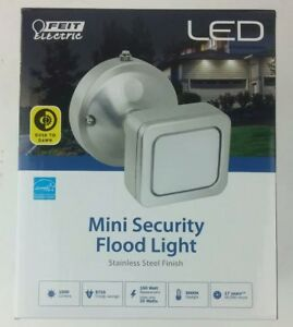 Feit Electric LED Mini Security Flood Light 150w Stainless Steel Finish