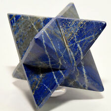 "2.8"" Lapis Lazuli 8 Point Merkaba Star w/ Pyrite Natural Crystal - Afghanistan"