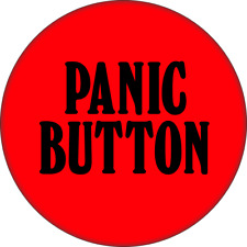 "31111 Red & Black Panic Button Funny Comedy Joke Gift 2.25"" Refrigerator Magnet"