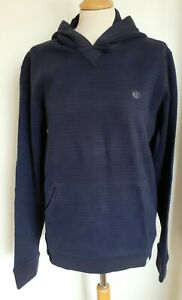 Fat Face Mens Striped Hoodie, Sweatshirt with Hood, Navy Blue Size M BNWT