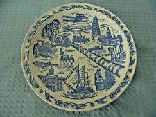 Vernon Kilns Historical Lithograph Plate, Connecticut