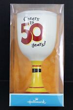 Hallmark Cheer to 50 Years Collectible Porcelain Gobblet Wine Birthday Gift