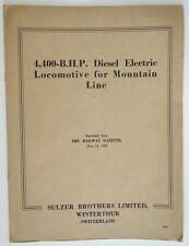 4,400 B.H.P. Diesel Elecrtic Locomotive for Mountain Line - Switzerland