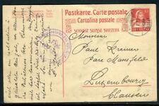 Suisse - Entier postal de Laugen Bruck pour Luxembourg en 1917 - ref J 67