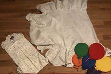3 Lot Vintage Carters Baby Diaper Holder Polka Dot Crib Skirt Balloons Great Con