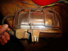 Véritable Ancienne Lampe de Coursive Bateau / Atelier Usine Base Fonte Steampunk