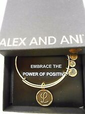 Alex and Ani INITIAL L Expandable Wire Bracelet Rafaelian Gold NWTBC
