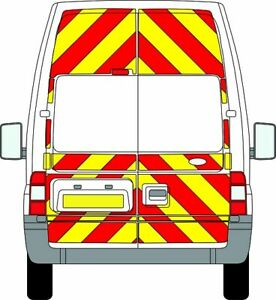 FORD TRANSIT H3 HIGH ROOF 3/4 Chevron Kit 2006-14 PRISMATIC CHAPTER 8 REFLECTIVE