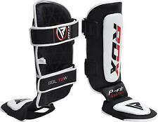 RDX Shin Guard Leather MMA Instep Leg Pads Muay Thai Boxing Training Protective