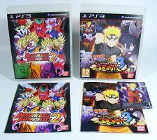 Dragonball Raging Blast 2 et naruto ninja storm 3 playstation 2 ps2 jeux DBZ