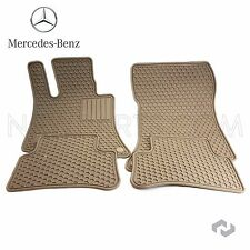 Genuine Mercedes Benz CLS E Class C218 W212 Beige All Season Floor Mats Q6680712