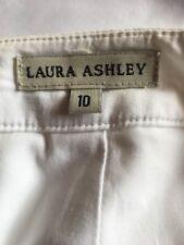 Ladies skirt Laura Ashley Polished cotton Back zipper Size 10 Straight White