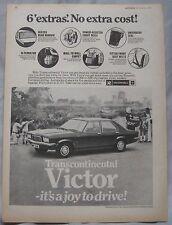 1973 Vauxhall Victor Original advert No.1