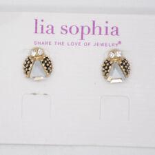 Lia Sophia Jewelry ladybug stud earrings gold plated cut crystal cute for women