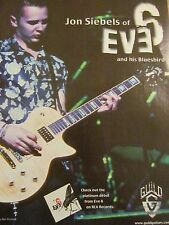 Eve 6, Jon Siebels, Guild Guitars, Full Page Promotional Print Ad