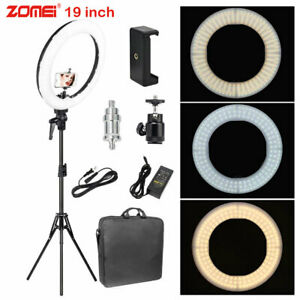 18'' LED Ring Light Lamp Selfie Camera Phone Studio Tripod Stand for Video