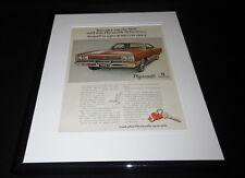 1969 Chrysler Plymouth Belvedere 11x14 Framed ORIGINAL Vintage Advertisement