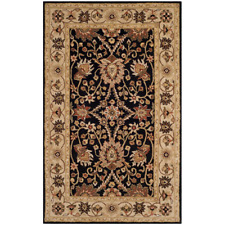 Vintage Style Antiquity Black 5 ft. x 8 ft. Oriental Area Rug Wool Hand-Tufted