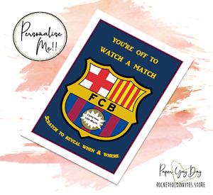 Barcelona FC Scratch Reveal Surprise Trip Card  Football Card Football tickets.
