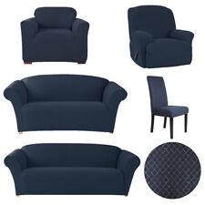 SureFit Diamond Stitch 2 Seater Sofa Cover (navy)